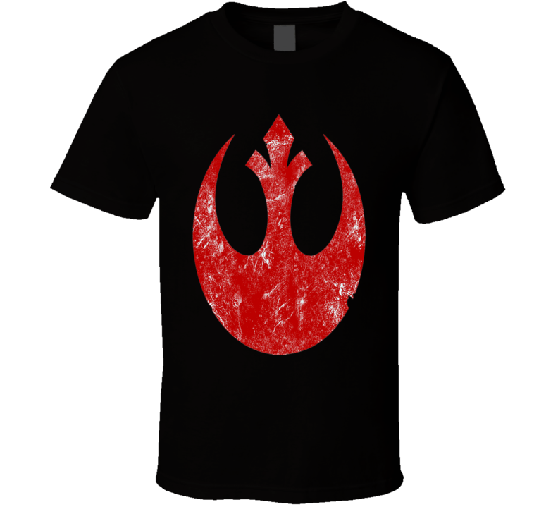 Rebel alliance logo Star Wars Black T Shirt