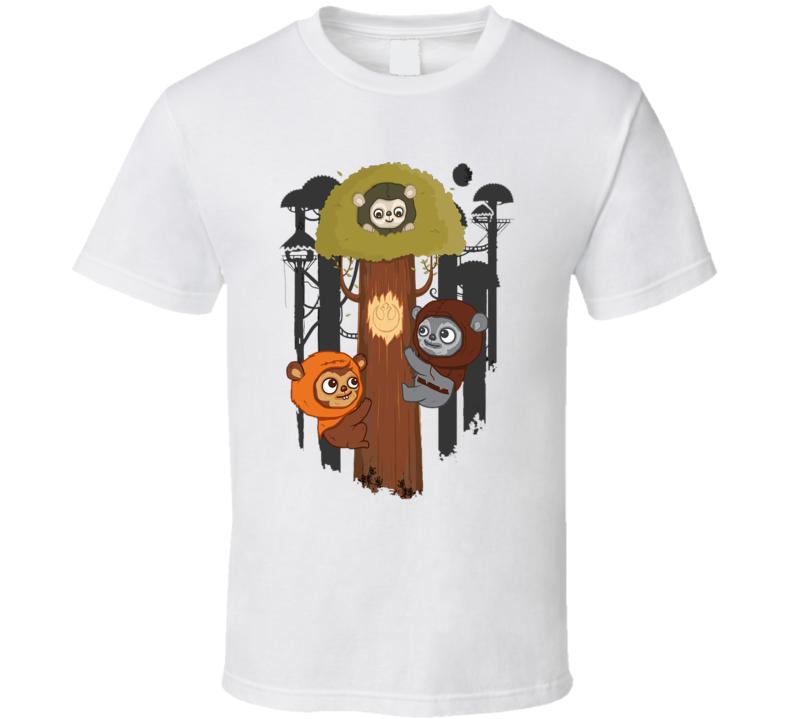 Rebel Ewoks Star Wars T Shirt