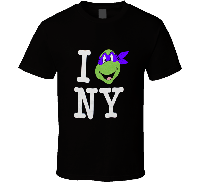 Teenage Mutant Ninja Turtles I Love Ny Donatello T Shirt