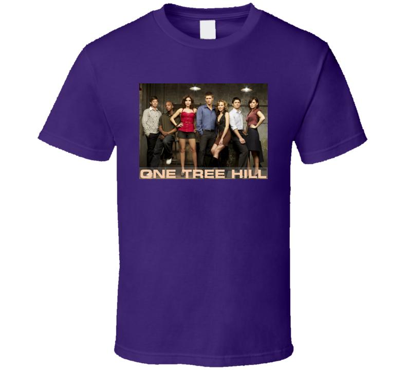 One Tree Hill Drama Tv Series Group Purple T Shirt