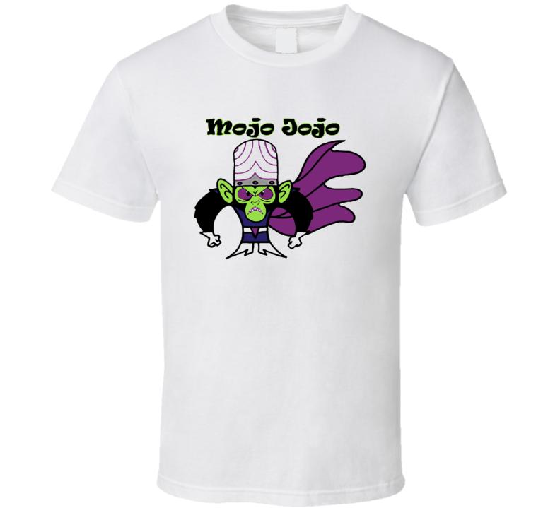 Mojo Jojo Powerpuff Girls Cartoon TV White  T Shirt