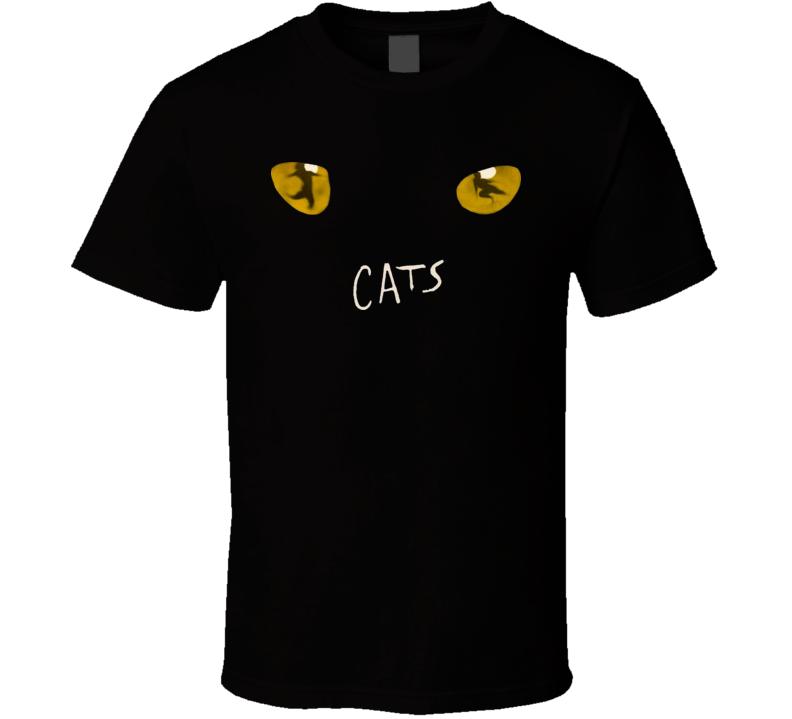 Cats Broadway Musical Show Black T Shirt