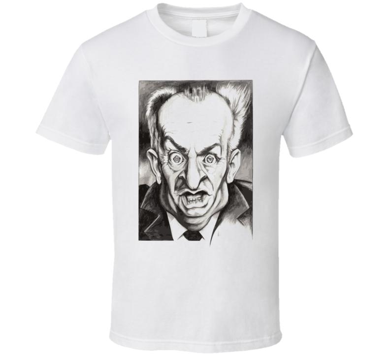 Louis De Funes Cult Movie T Shirt