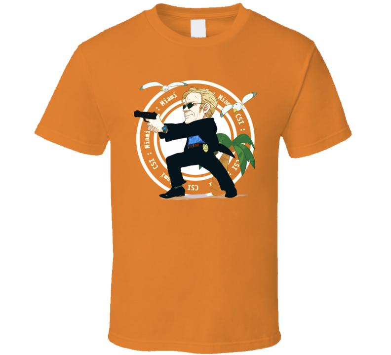 Horatio Caine Csi Miami Cartoon T Shirt