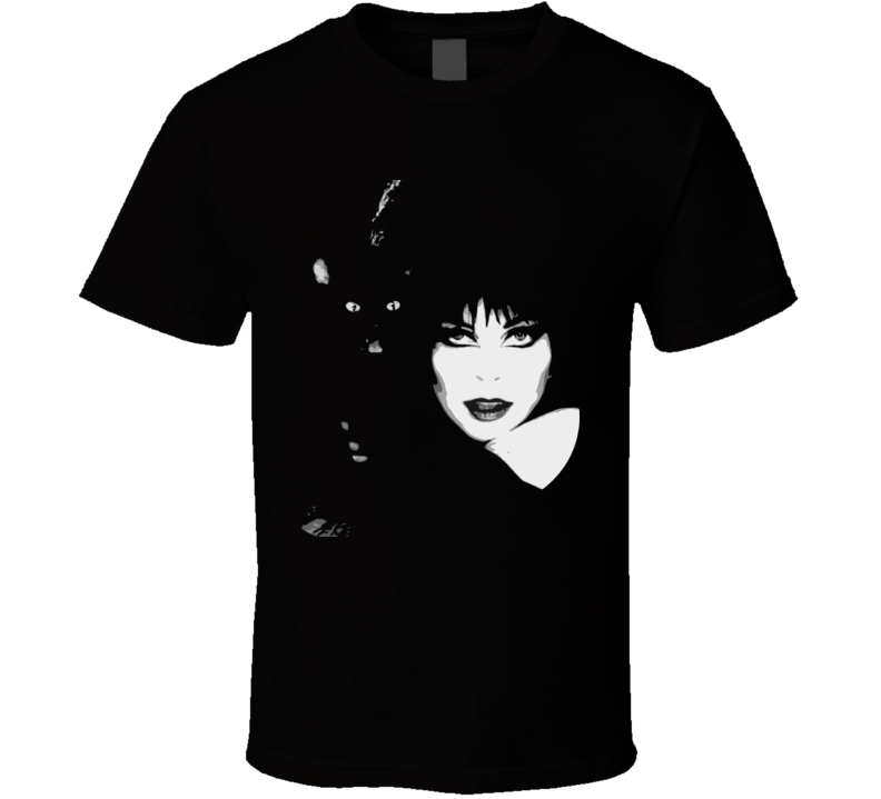 Elvira Cat Poster T Shirt