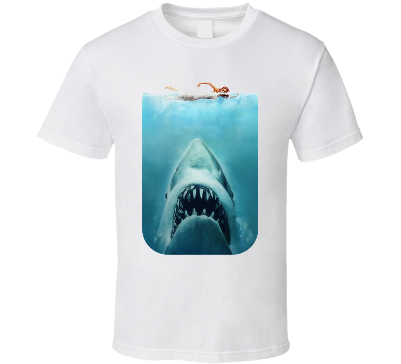 Jaws Poster Shark Movie T Shirt