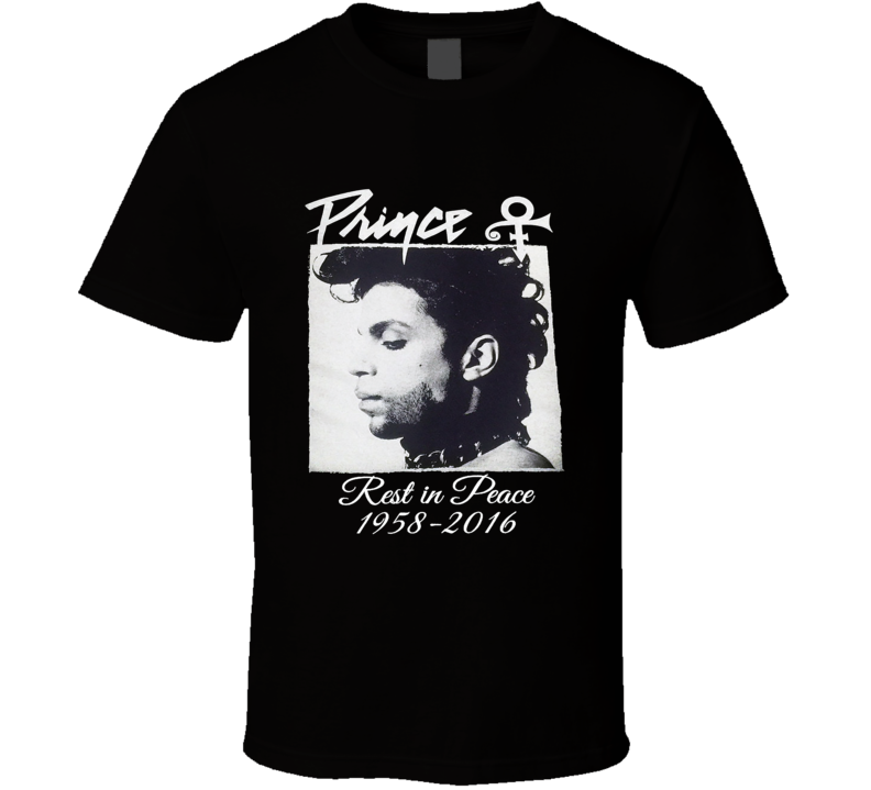 Prince RIP Purple Purple Rain Legend Icon Memorial 1958-2016 T Shirt