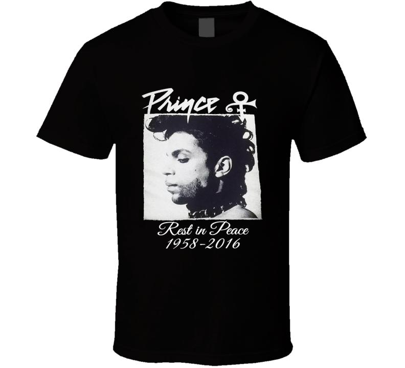 Prince RIP Purple Purple Rain Legend Icon Memorial 1958-2016 T Shirt