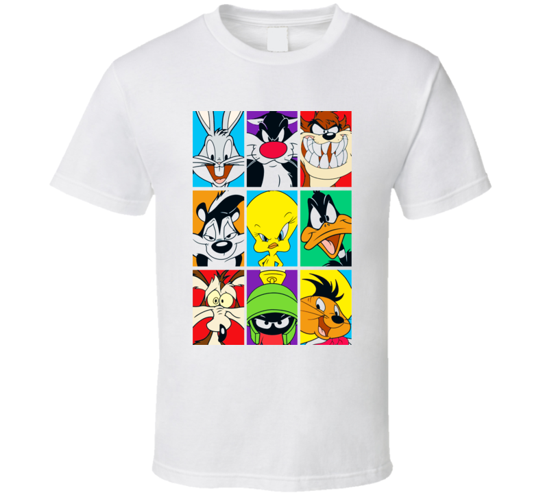 Looney Tunes Bugs Tweety Daffy Taz T Shirt
