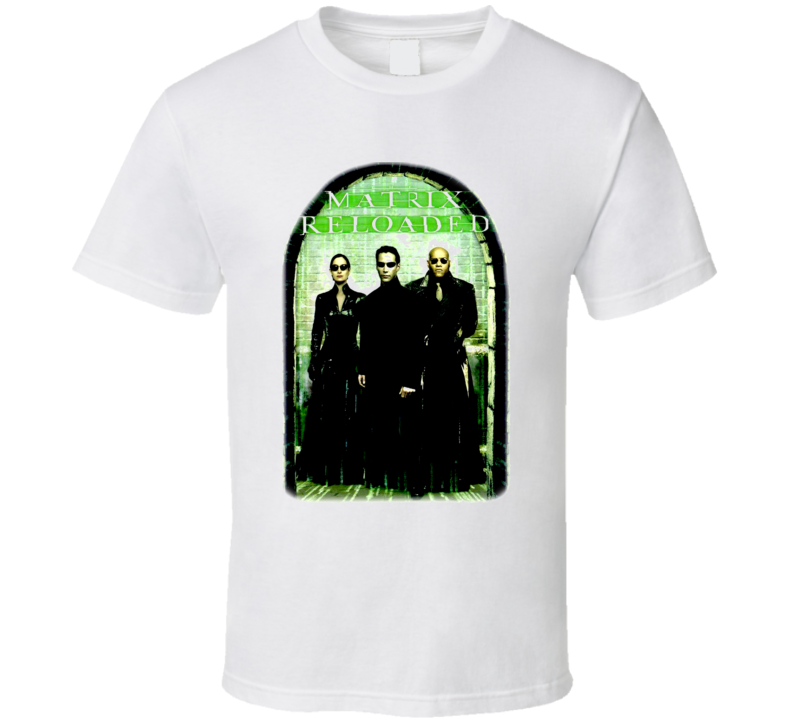 The Matrix Reloaded Movie Keanu Reeves T Shirt