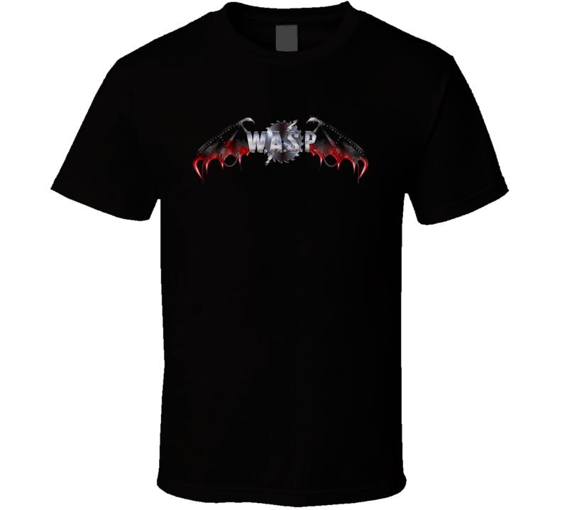 Wasp Cool Logo Heavy Metal Rock Vintage T Shirt