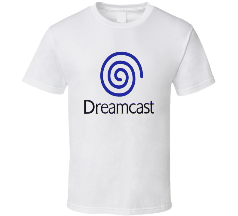 Sega Dreamcast Logo Orange Or Blue Retro Vinyl T Shirt