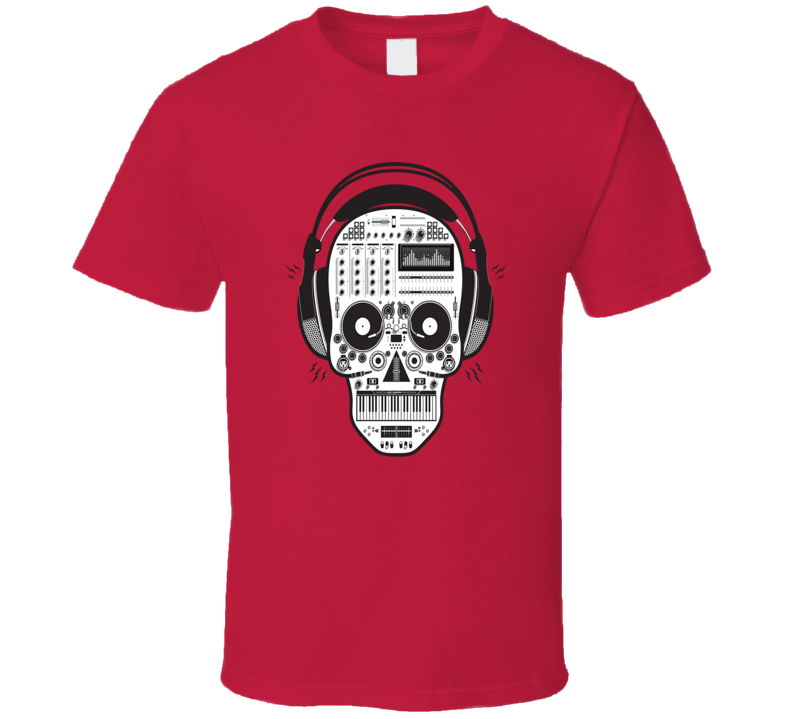 Skull DJ Music Rap Hip Hop T Shirt