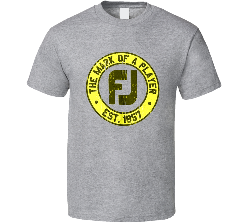 Footjoy Golf The Mark Of A Player Golfing T Shirt