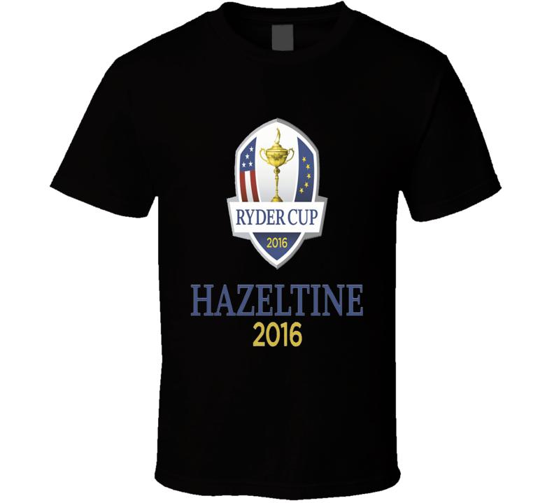 Ryder Cup Hazeltine 2016 Golf Golfing Black T Shirt