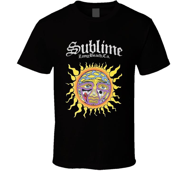 SUBLIME Sun Logo LBC Ska Punk Long Beach T Shirt