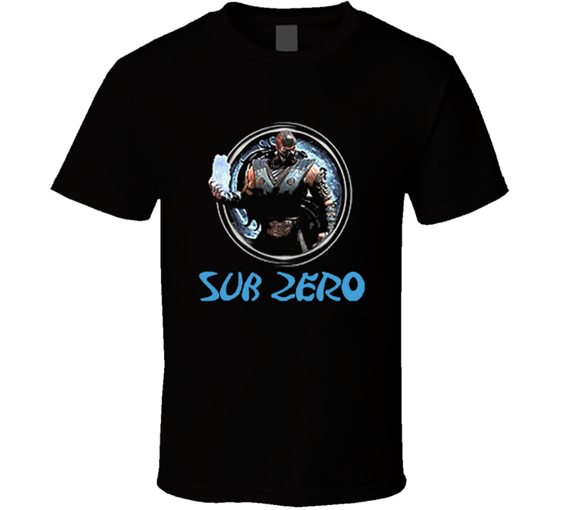 Sub Zero Mortal Kombat 9 Video Game T Shirt