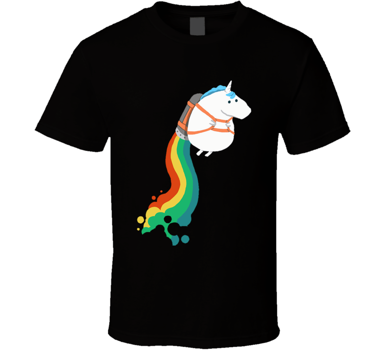 Unicorn on raibow jet pack T Shirt