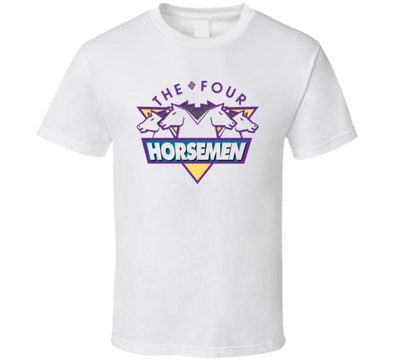 Four Horsemen Retro Logo Ric Flair White T Shirt