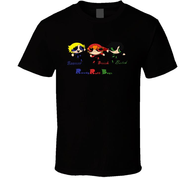 Rowdy Ruff Boys Names Black T Shirt