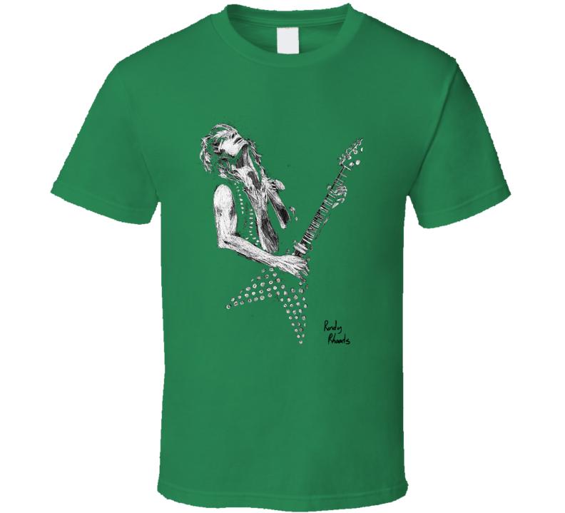 Randy Rhoads Light Green T Shirt