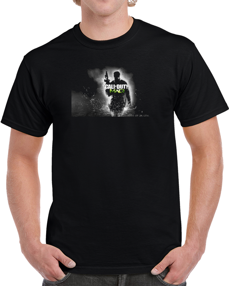 Custom Call Of Duty Design Black T Shirt