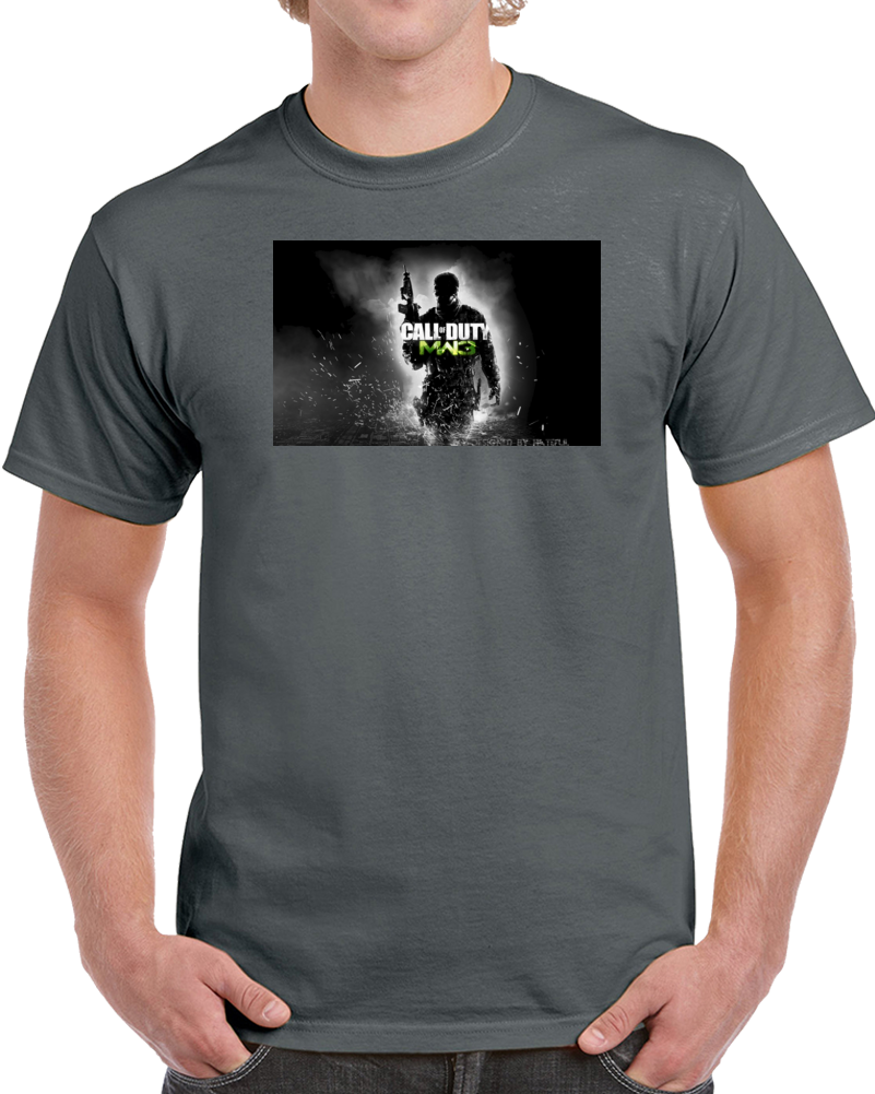 Custom Call Of Duty Design Charcoal Grey T Shirt