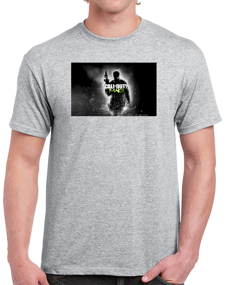 Custom Call Of Duty Design Sport Grey T Shirt