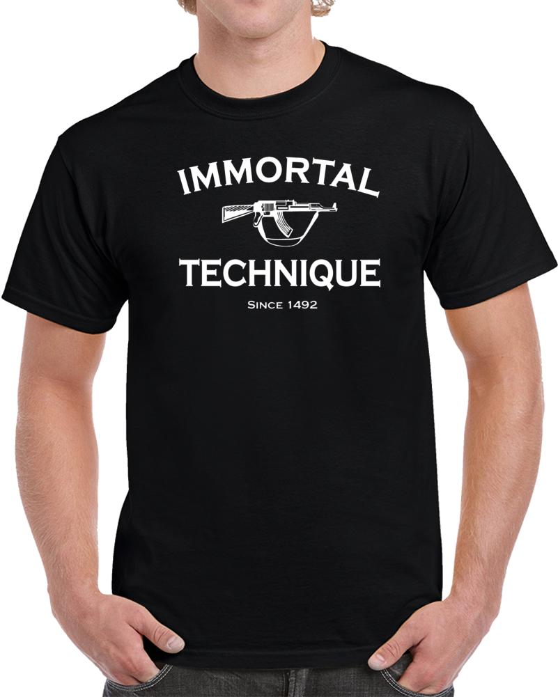 Immortal Technique Flag Hip Hop Rap Alternative Underground  Black T Shirt