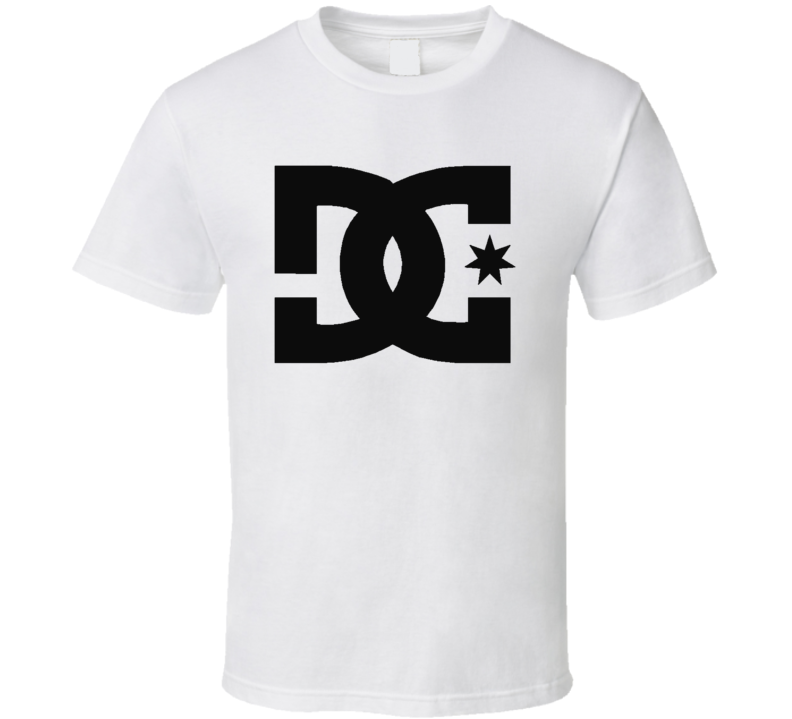 Dc Shoes Logo Extreme Monster 43 Block Skate White T Shirt