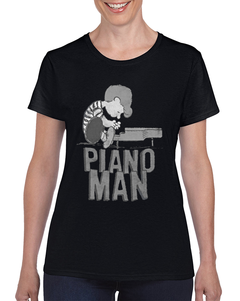 Piano Man - Peanuts Schroeder At The Piano Ladies T Shirt