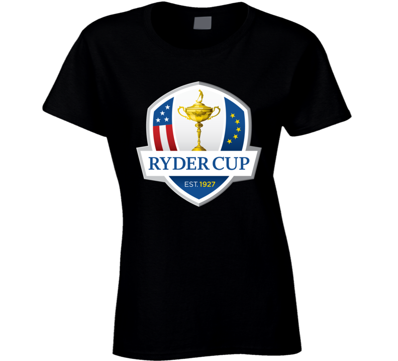 Ryder Cup Golf Golfing Black Ladies T Shirt