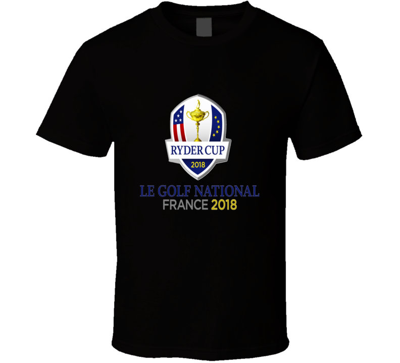 Ryder Cup Le Golf National France 2018 Black T Shirt