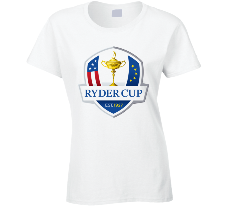 Ryder Cup Golf Golfing Black Ladies White T Shirt