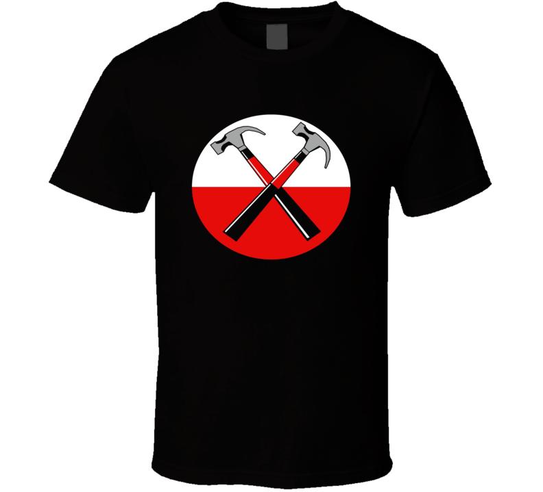 Pink Flyod Hammer Logo Classic Town Rock & Roll T Shirt