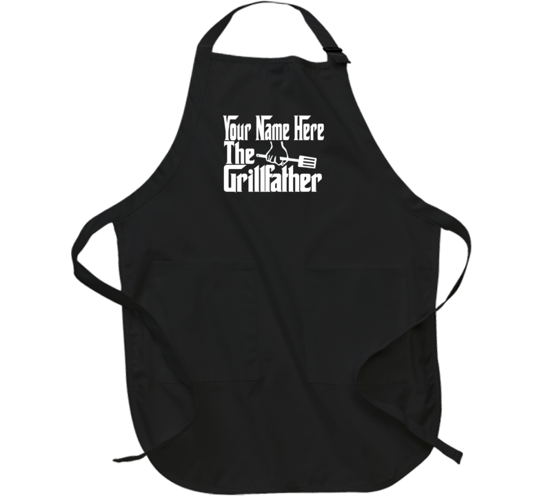 Personalized Name The Grill Father Funny Gift Dad Husband Apron