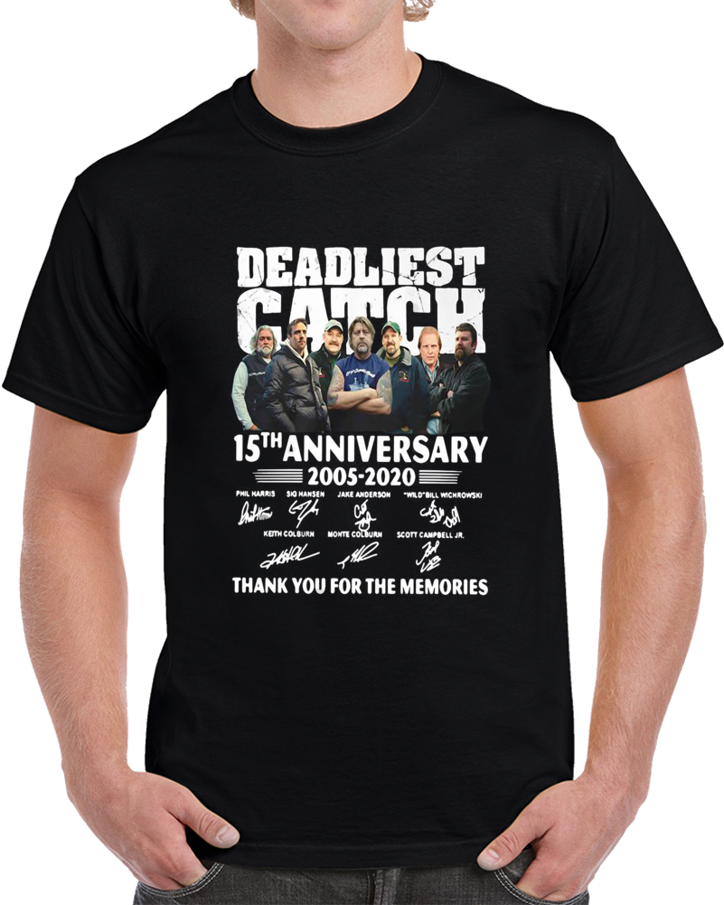 Deadliest Catch 15th Anniversary 2005-2020 Signature T Shirt