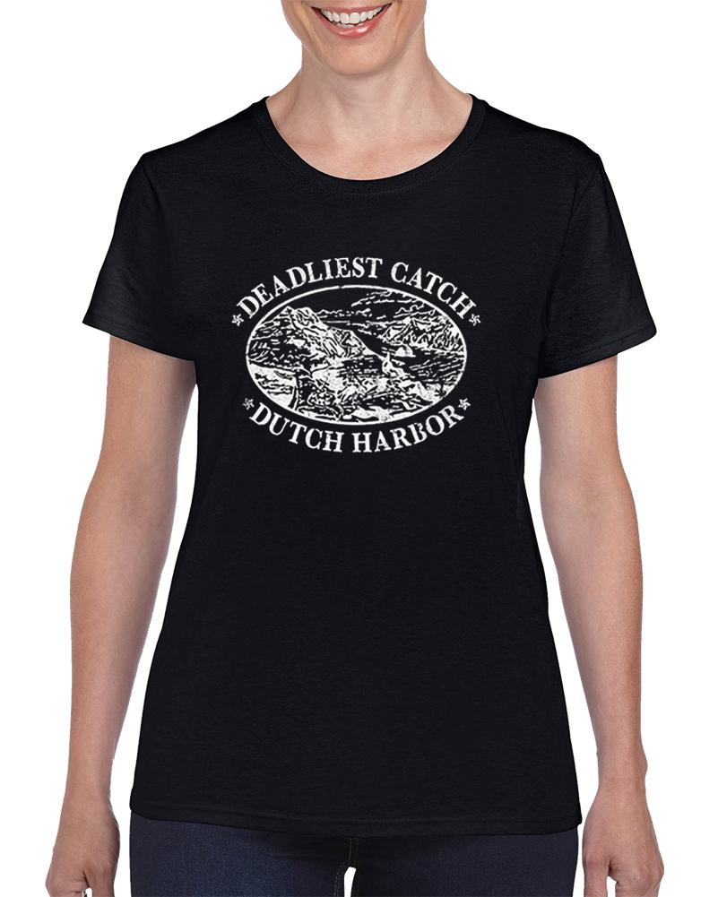 Deadliest Catch Dutch Harbor Women's Ladies T Shirt