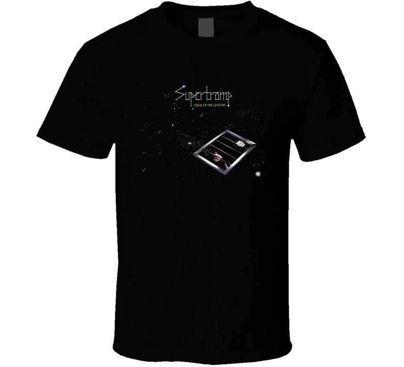 Supertramp Crime Of The Century Vintage Rock Black T Shirt
