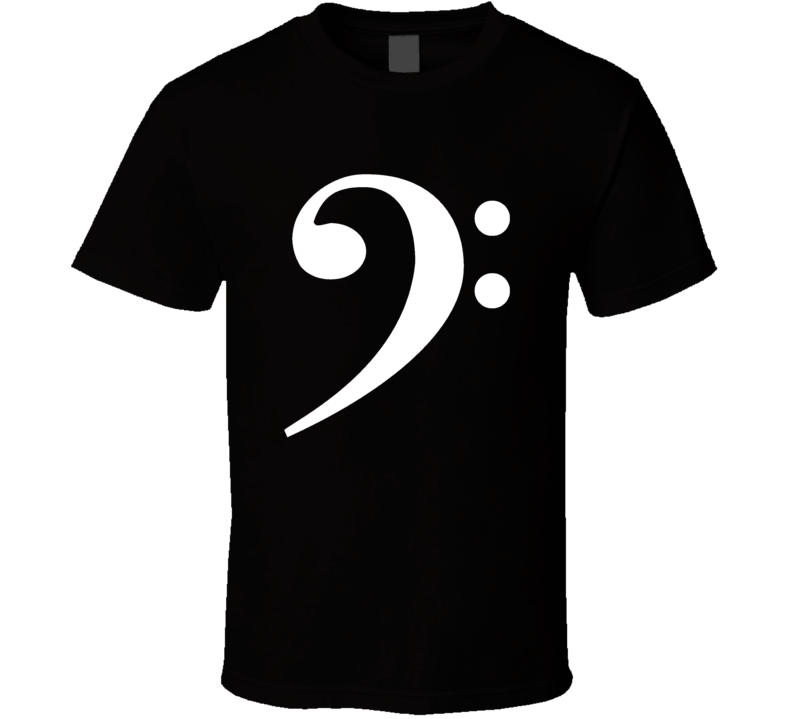 BASS CLEF Music symbol Jazz ROCK band Guitar T Shirt