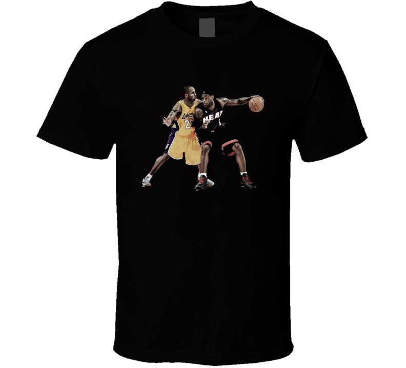 Lebron James 6 Kobe Bryant 24 Shirt LA Lakers Miami Heat basketball