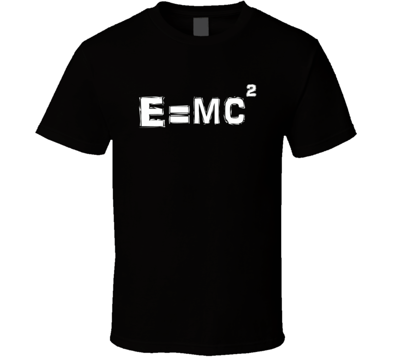 Albert Einstein E=MC2 Equation T Shirt