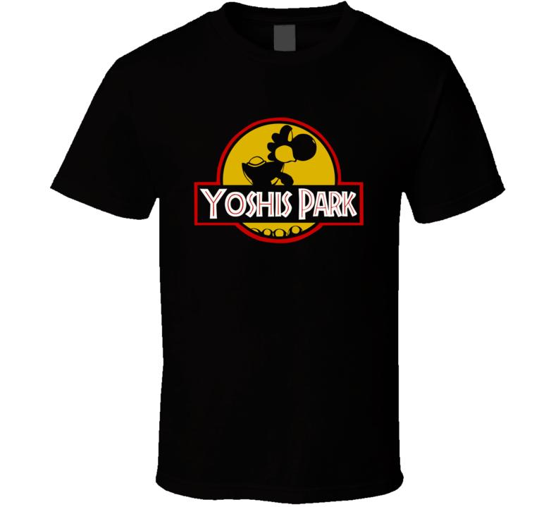 Nintendo Super Mario Yoshi Park Jurassic Park Smash Bros T Shirt