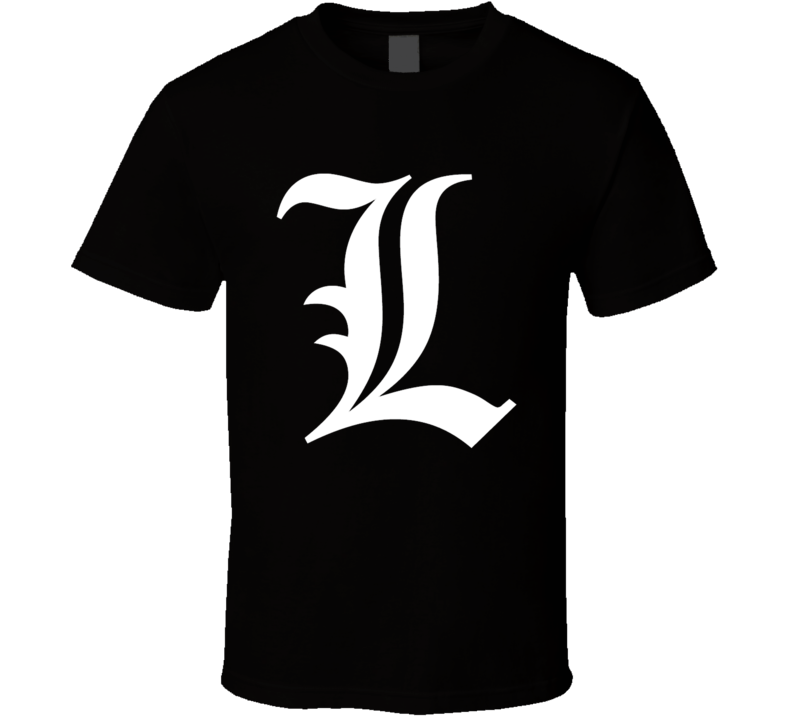 Death Note L Light Anime Manga T Shirt