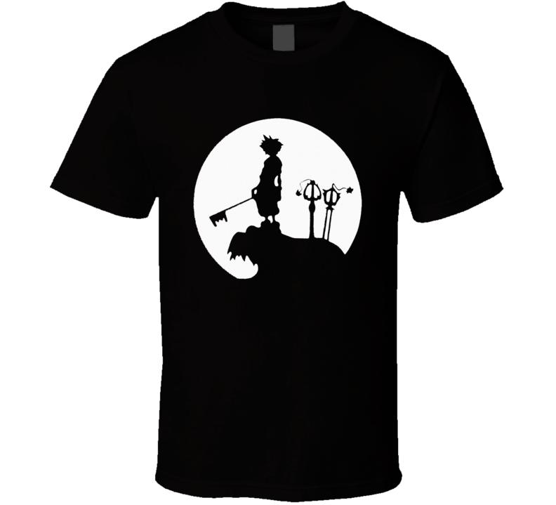 Kingdom Hearts Sora Moon Final Fantasy 7 VII T Shirt