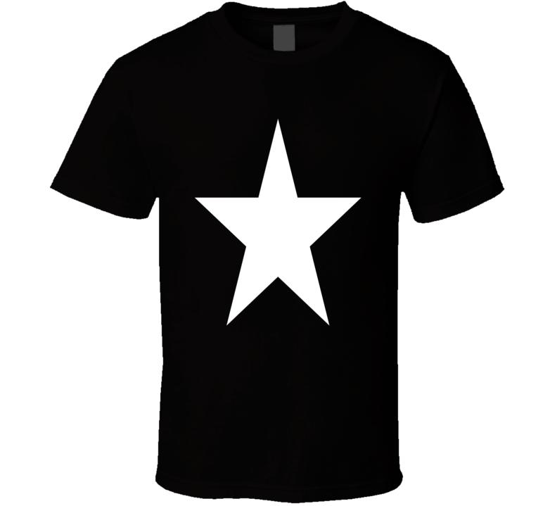 WHITE STAR Retro geek SKATER Music Rock PUNK T Shirt