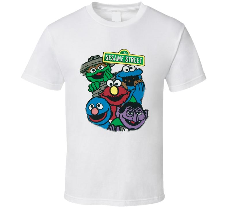 Sesame Street Bright Group T Shirt