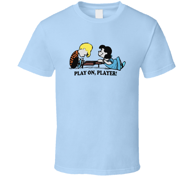 Peanuts Lucy and Schroeder Play On Player Vintage T Shirt