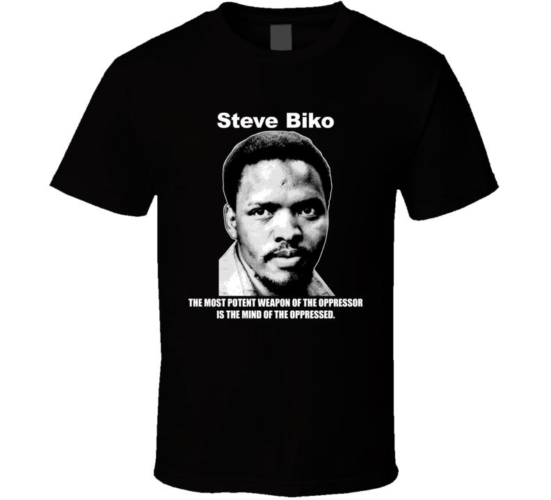Steve Biko African American Activist Black T Shirt