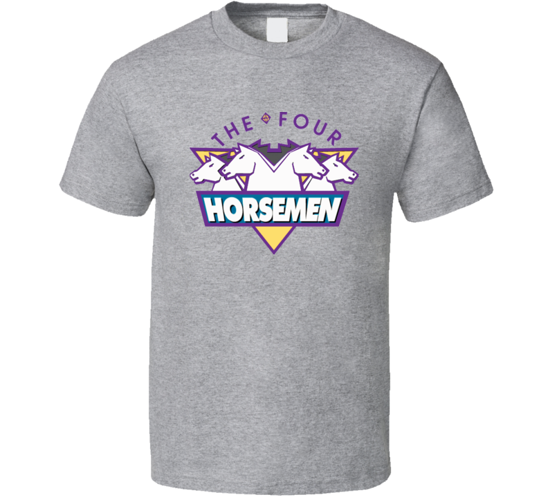 Four Horsemen Retro Logo Ric Flair Grey T Shirt